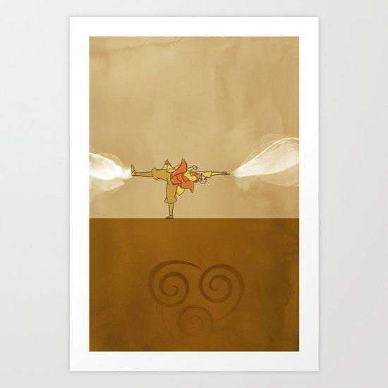 Avatar Aang Art Print