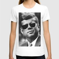 jfk T-shirts featuring BE COOL - JFK by Johnny Late Night Designs ॐ