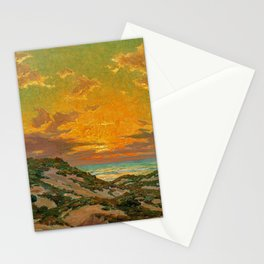 Sunset amid the Dunes by Granville Redmond Stationery Cards