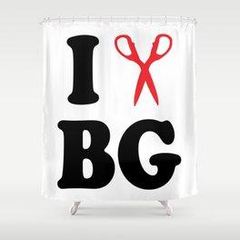 I Scissor Bianca Gervais Shower Curtain