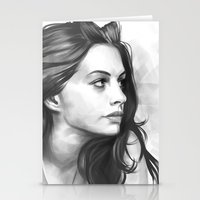 minimalist Stationery Cards featuring Anne Hathaway minimalist illustration by Thubakabra