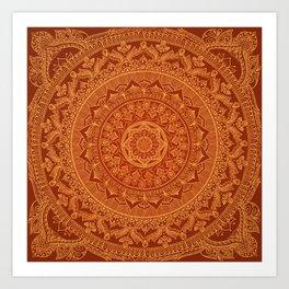 Mandala Spice Art Print