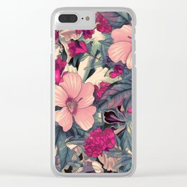 flowers 28 #flora #flowers #pattern Clear iPhone Case