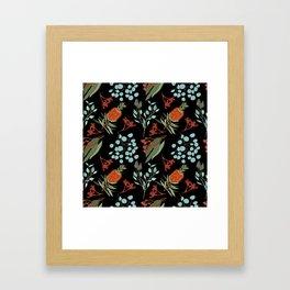 Australian Botanicals - Black Framed Art Print