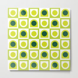 Geometric Pattern #210 (lime green) Metal Print