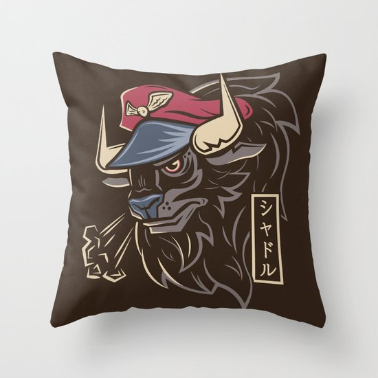 Master Bison Throw Pillow
