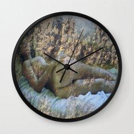 Lying nude Wall Clock