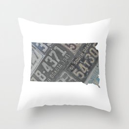 Vintage South Dakota Throw Pillow
