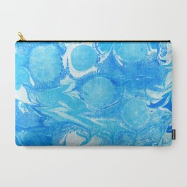 Marble Blue Carry-All Pouch