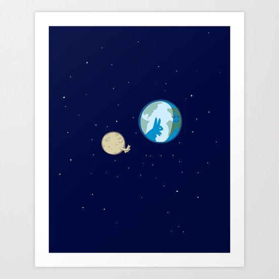 Rabbit on the moon? Art Print
