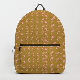 Abstract blush pink mustard yellow watercolor geometrical pattern Backpack