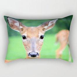Big Brown Eyes   Deer Rectangular Pillow