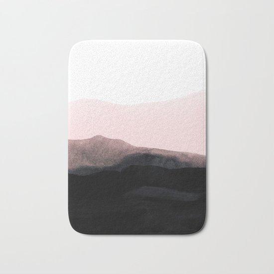 mountain horizon Bath Mat