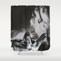 erotic Shower Curtains featuring Aphrodesia Erotic by Liaison Érotique