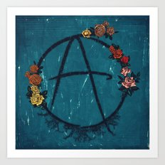 Anarchy (but with flowers) Art Print
