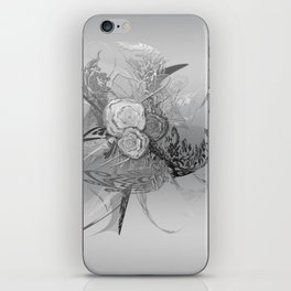 50 Shades of lace Silver Silver iPhone Skin
