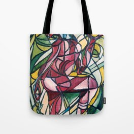 Stained glass figure Tote Bag