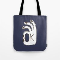 kim sy ok Tote Bags featuring OK by Alisa Galitsyna