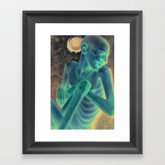 Withdrawal from the Realm of Fish Framed Art Print