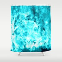 turquoise Shower Curtains featuring Turquoise by 2sweet4words Designs