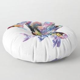 Cichlid Ram Aquarium Sih art Floor Pillow