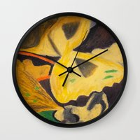 pasta Wall Clocks featuring Pasta by Stefanie Sharp