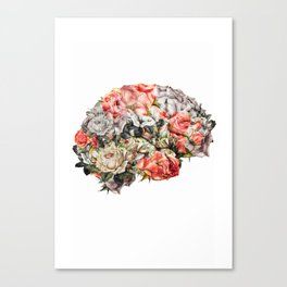 Flower Brain Canvas Print