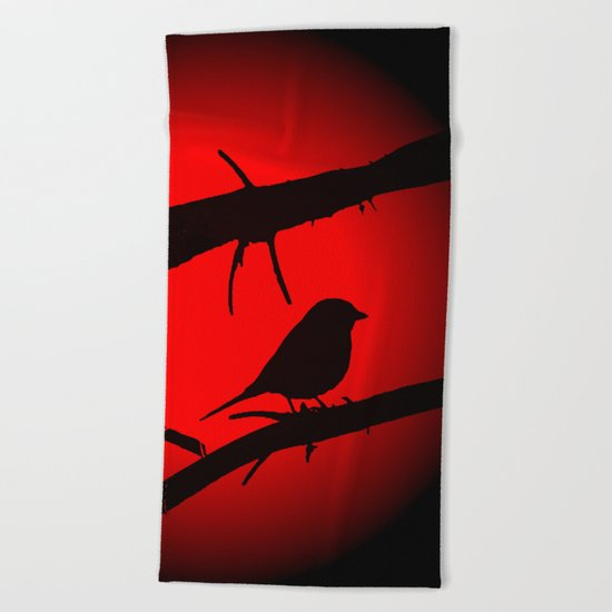 Free as a bird Beach Towel