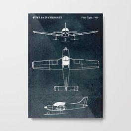 Piper PA-28 - 1960 Metal Print