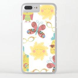 Travel pattern 2u Clear iPhone Case