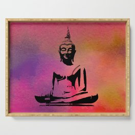 Buddha in lotus Serving Tray