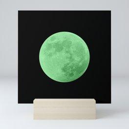 LIME MOON // BLACK SKY Mini Art Print