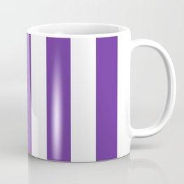 Rebecca Purple - solid color - white vertical lines pattern Coffee Mug