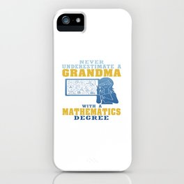 Mathematics Grandma iPhone Case