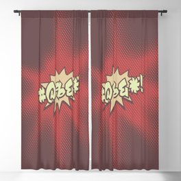 Mild profanity RETRO RED / Cartoonish anger Blackout Curtain