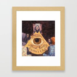 Illumi-Knotty Knitter's Club Framed Art Print