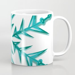Minimalistic Aquamarine Snowflake Coffee Mug