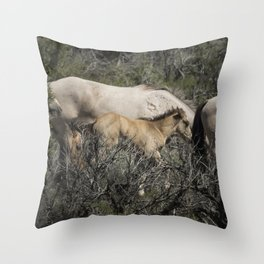 Young but Keeping Up Throw Pillow