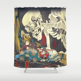Utagawa Kuniyoshi Takiyasha The Witch Shower Curtain