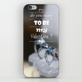 do you want to be my Valentine ? iPhone Skin
