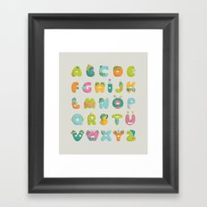 alphabet Framed Art Print