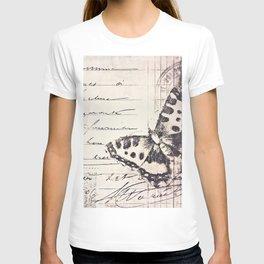 postal butterfly {b&w T-shirt