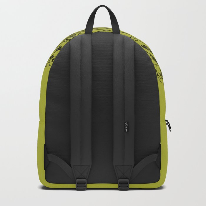 Forest Green Circle Nature Flow Backpack