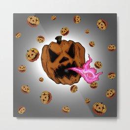 Soul Eater Jack o'lantern . Halloween Pumpkin Metal Print