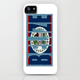 Belize Map with Belizean Flag iPhone Case