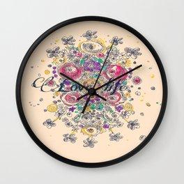 flowers3 Wall Clock