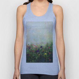Abstract Meadow Unisex Tank Top