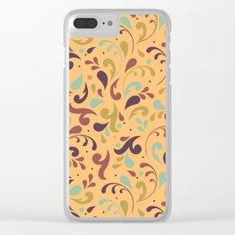 Swirls & Curls Clear iPhone Case