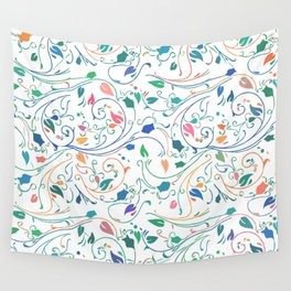Multicolor Floral Design Wall Tapestry