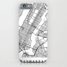 Manhattan New York Street Map Minimal iPhone Case